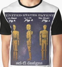 Patent Art - Protocol Robot From 1979 Blockbuster Sci-Fi Movie Graphic T-Shirt