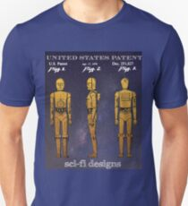 Patent Art - Protocol Robot From 1979 Blockbuster Sci-Fi Movie T-Shirt