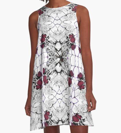 Roses Black Widow A-Line Dress