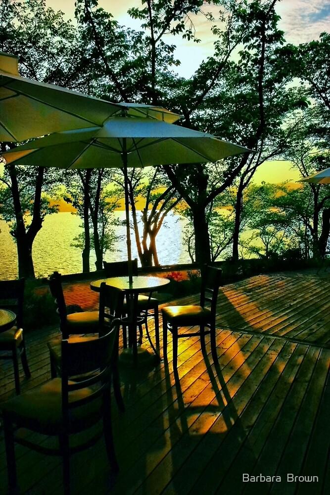 Evening Shadows on Lake Bomunho by Barbara  Brown