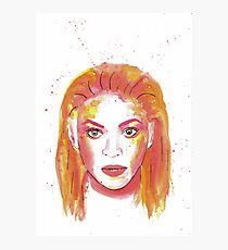 Beyonce in Watercolour Photographic Print