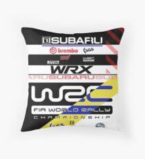 Subaru Rally 555 Throw Pillow