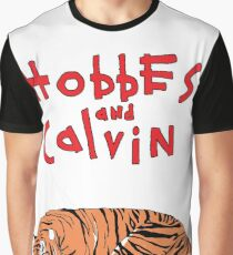 Hobbes and Calvin logo Graphic T-Shirt