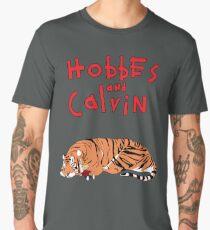 Hobbes and Calvin logo Men's Premium T-Shirt