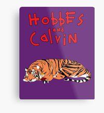 Hobbes and Calvin logo Metal Print