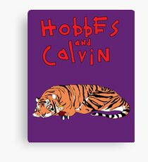 Hobbes and Calvin logo Canvas Print