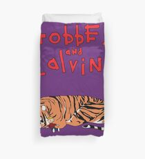 Hobbes and Calvin logo Duvet Cover
