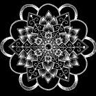Dahlia Mandala - weißer Druck von georgiamason