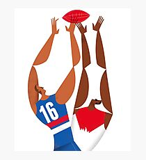 AFL Western Bulldogs Grand Final Poster Poster Photographic Print