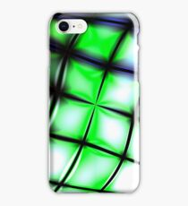 Green bended Grid iPhone Case/Skin