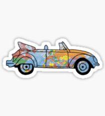 Beatle Bug World Traveler  Sticker