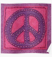 Hand-Sewn Peace Sign Poster