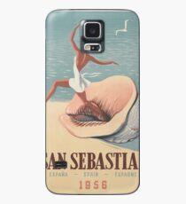 Vintage poster - San Sebastian Case/Skin for Samsung Galaxy