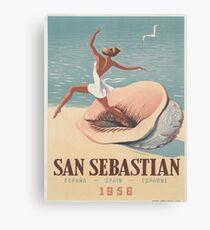 Weinleseplakat - San Sebastian Leinwanddruck