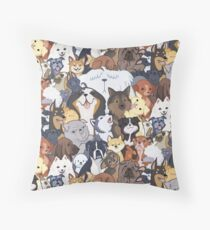 Pupper Party Throw Pillow