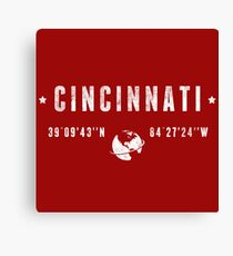 Cincinnati geographic coordinates Canvas Print