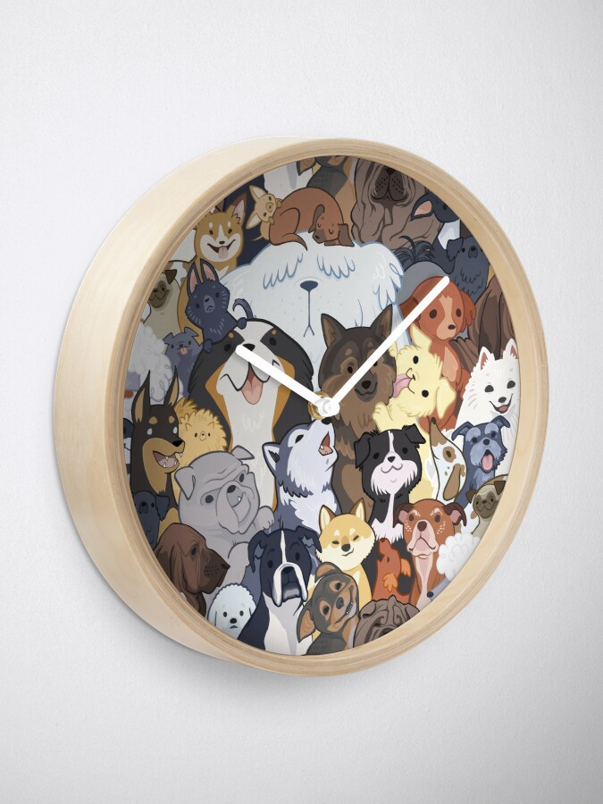 Alternate view of Pupper Party Clock