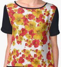 Crazy Colorful Flowers Women's Chiffon Top