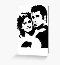 John Travolta Grease Greeting Card