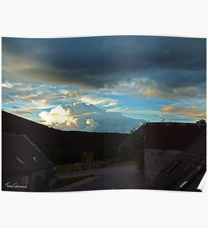 Storm clouds gathering over Speyside Poster