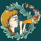 Girl with Trumpet by Little Monster