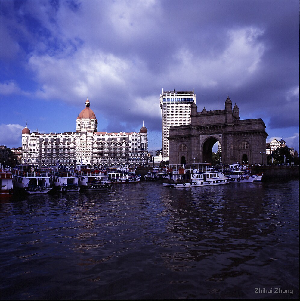 Gateway of India & Taj Mahal Hotel by Zhihai Zhong