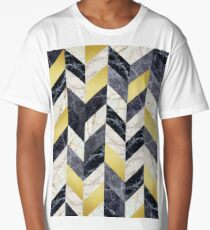 Marble and gold pattern Long T-Shirt