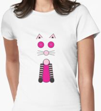 Fancy Cat Womens Fitted T-Shirt