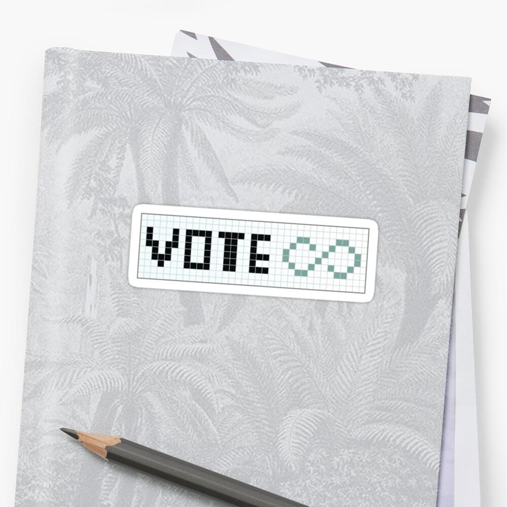 Vote Infinity! by tastypaper