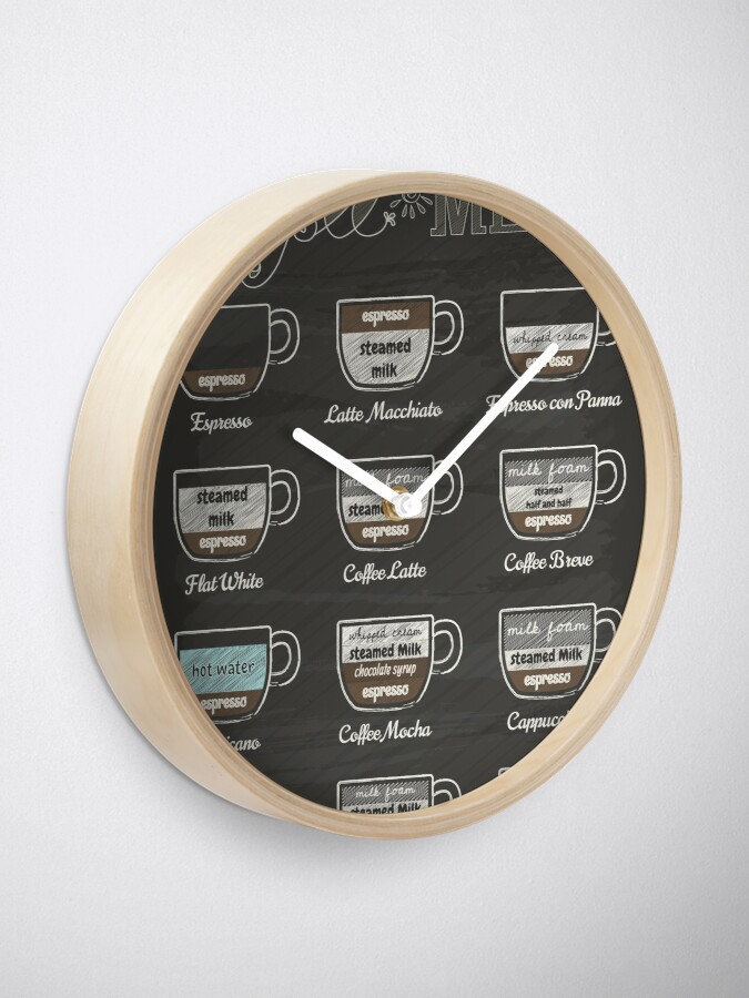 Alternate view of Coffee Shop Menu Clock