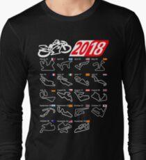 MotoGp Calendar 2018 circuits Long Sleeve T-Shirt