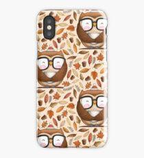 Seamless Owl Pattern iPhone Case/Skin