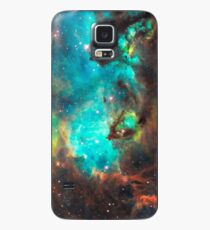 Green Galaxy Case/Skin for Samsung Galaxy