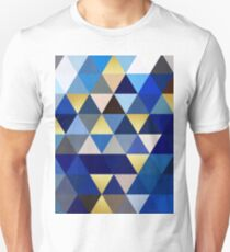 Blue and gold triangles T-Shirt