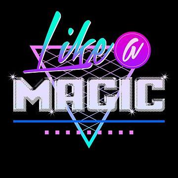 Like a Magic (Black Background) by abroadinjapan