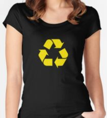 Recycling Women's Fitted Scoop T-Shirt