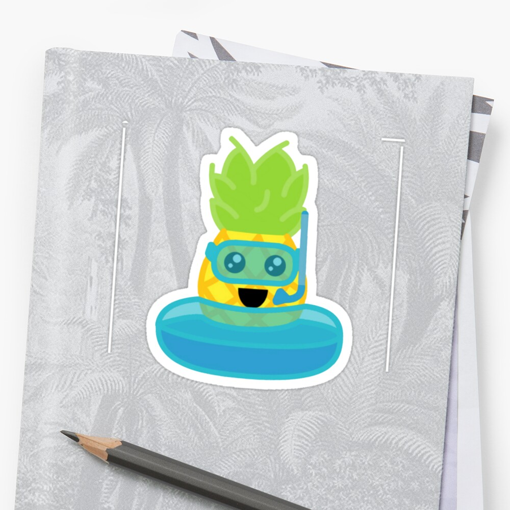Swimming Pineapple by AnanaExpress