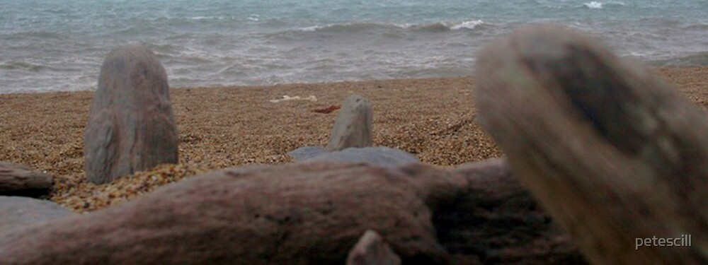 Pebbles on the beach by petescill
