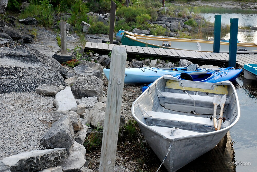 boat at dock by tclarkson