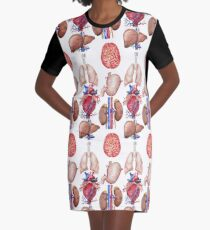 Watercolor anatomy collection Graphic T-Shirt Dress