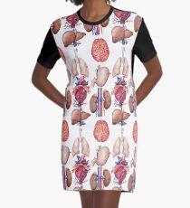 Aquarell Anatomie Sammlung T-Shirt Kleid