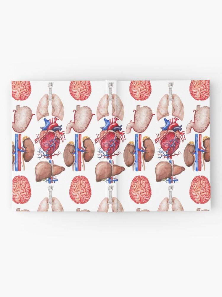Vista alternativa de Cuaderno de tapa dura Colección de anatomía de acuarela
