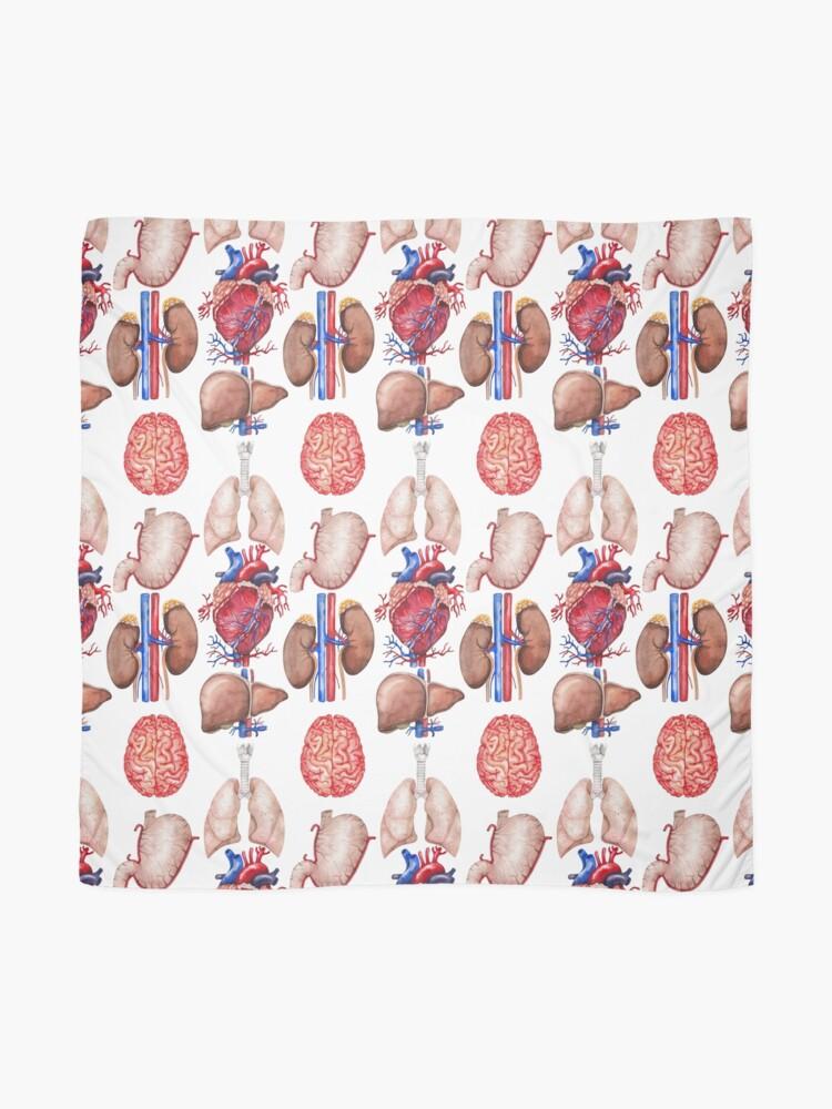 Vista alternativa de Pañuelo Colección de anatomía de acuarela
