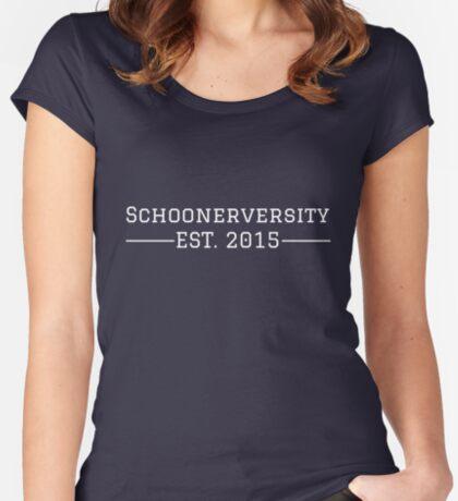 Schoonerversity - Est. 2015 (large) Women's Fitted Scoop T-Shirt