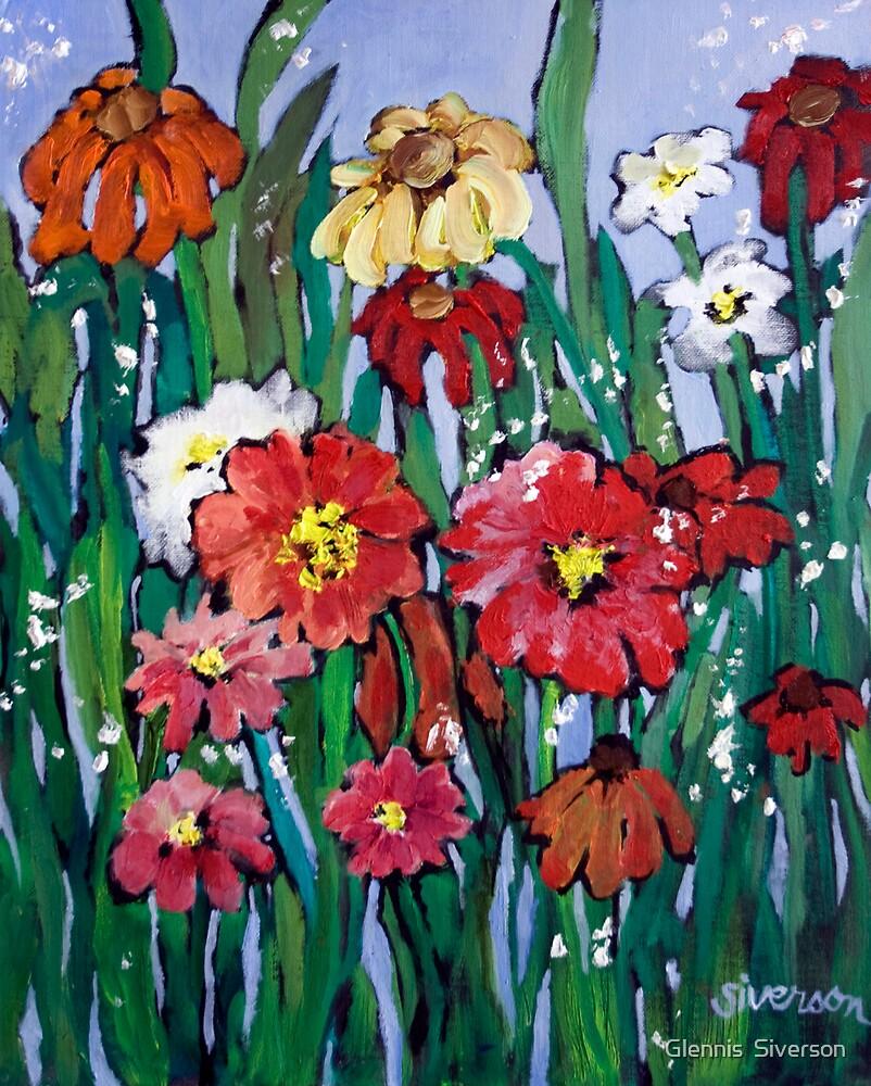 Garden Flowers by Glennis  Siverson