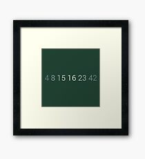 The numbers of Lost Framed Print