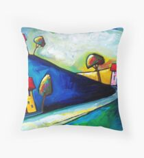 SUN  ON  THE  ROAD Throw Pillow