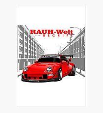 Red RWB Layout Photographic Print