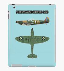 SUPERMARINE SPITFIRE MK2- MILITARY WW2 RAF FIGHTER AIRCRAFT iPad Case/Skin