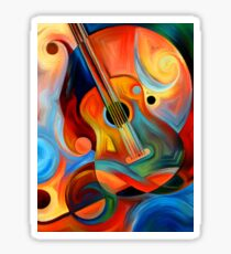guitar painting Sticker